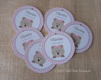 12 tags for baptism, birthday or Baby Shower-Favor Tags