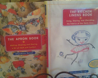 Vintage Kitchen Linens Apron Patterns Hot Iron Transfers Kitchen Books