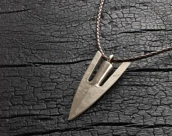 Bronze Medieval Arrowhead Pendant
