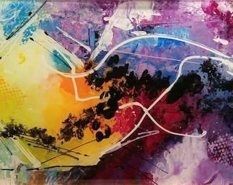 Harmony, Modern abstract work , acrylic on plexiglass