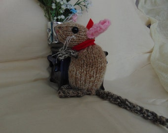 knitted toy rat
