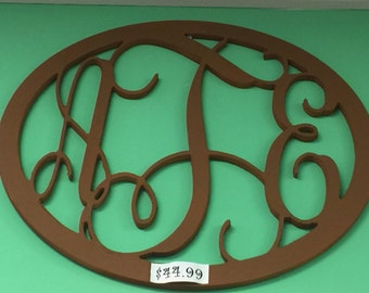 Monogram Wood Sign, Round Wood Sign, Wall Hanging Decor, Door Hanging Decor, Door Hanging Monogram, Wall Hanging Monogram, Bedroom Decor