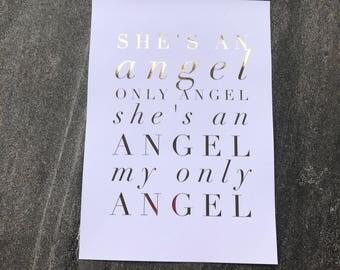 Harry Styles Foil Art - Only Angel