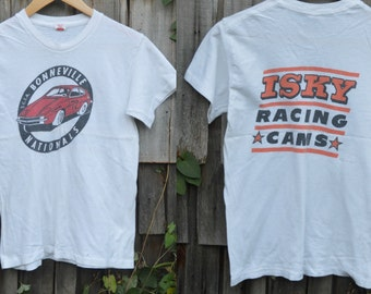 Vintage 70s tee T-shirt Racing shirt Bonneville