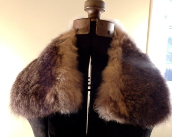Vintage Fur Collar Brown Rabbit Fur Collar
