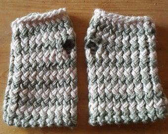 Short Handmade Fingerless gloves