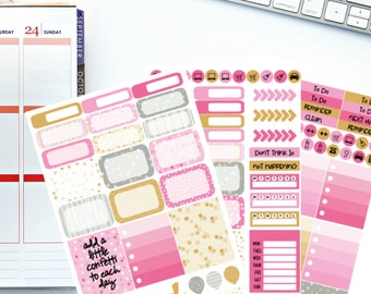 Confetti Kindness Weekly Kit Planner Stickers! Perfect for your Erin Condren Life Planner, calendar, Paper Plum, Filofax!