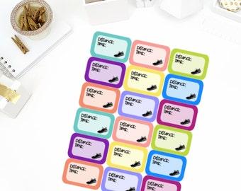 Running Half Box Stickers! Perfect for your Erin Condren Life Planner, calendar, Paper Plum, Filofax!