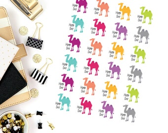 Hump Day Stickers! Perfect for your Erin Condren Life Planner, calendar, Paper Plum, Filofax!