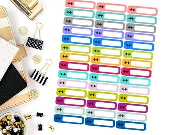 Workout Mini Label Stickers! Perfect for your Erin Condren Life Planner, calendar, Paper Plum, Filofax!
