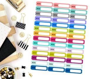 Work Mini Label Stickers! Perfect for your Erin Condren Life Planner, calendar, Paper Plum, Filofax!