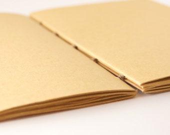 Exposed Binding Kraft Journal - Coptic Bound Journal - Softcover Journal - Notebook - Eco Australian Sustainable Journal