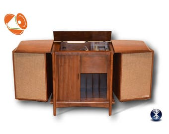 Vintage Stereo Console Packard Bell Modernized with All New High End Electronics / New turntable / Bluetooth