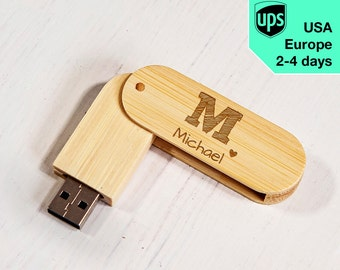 Your Name - Personalised USB flash drive, Laser Engraved Pendrive