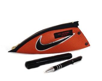 boyfriend gift, teen gift, pencil pouch, he unusual, sport fan, pencil case leather, Basketball fan, nike, teen sportsman