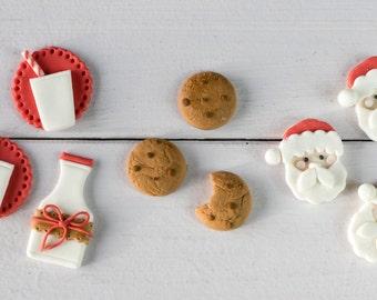 Santa Claus Cookies and Milk Fondant