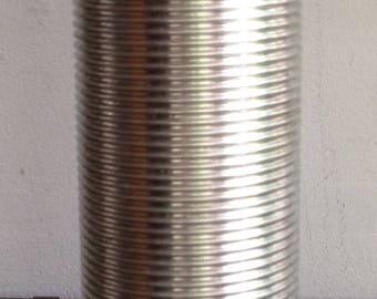 Antique Ribbed Aluminum Thermos Bottle