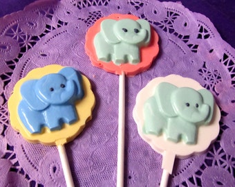 Baby Elephant chocolate lollipops