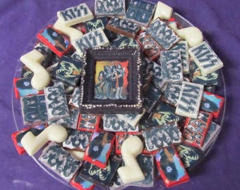Rock Band KISS Metallica Heavy Metal Rock n Roll chocolate candy tray
