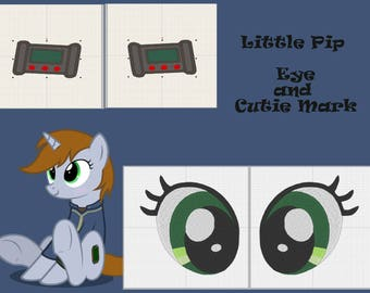 PES files: little PIP eye and Cutie mark - embroidery machine design