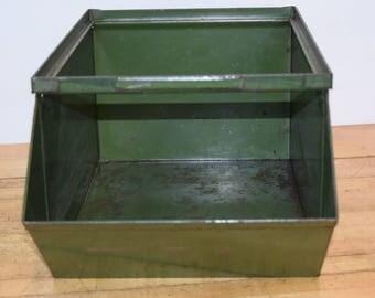 1920's Industrial Stackable  Green Bins