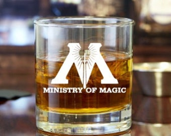 Ministry of Magic Harry Potter Rock Glass