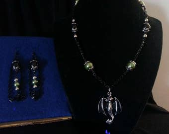 Green Dragon Jewelry Set
