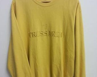 Rare Vintage TRUSSARDI Sweatshirt Size XL