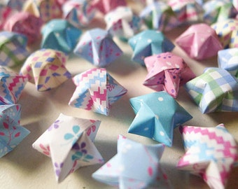 Cute Mixed Designs Origami Lucky Stars - Wishing Stars/Home Decor/Party Favor/Gift Fillers