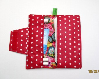 Pouch / case for panty liners / bags for tampons / pouch for panty liners and tampons / hygiene bags / rose / red