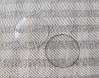 2 Assorted Vintage Watch Crystals, Glass Watch Crystals, Steampunk Pieces, Altered Art Glass, Vintage Watch Glass, Wrist Watch