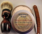 TOBACCO & BAY LEAF Tallow and Shea Butter Shaving Soap