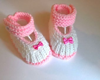Slippers in wool 0/3 months Babies ballerinas baby girl birth