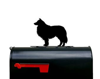 Rough Collie Dog Silhouette Mailbox Topper / Sign