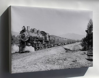 Canvas 24x36; Atchison, Topeka & Santa Fe Railroad Deluxe Overland Limited Train 1910S