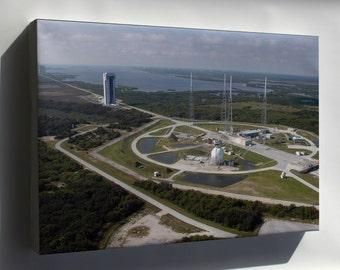 Canvas 24x36; Atlas V Rocket Launch Complex 41 At Cape Canaveral Florida
