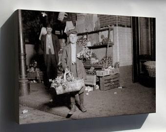 Canvas 24x36; Gus Strateges, 11Yo Celery Vendor Central Market