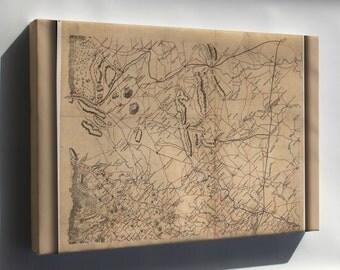 Canvas 24x36; Map Fauquier Prince William Co'S Virginia 1865