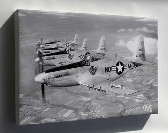 Canvas 24x36; F-51H Mustang P-52 Maryland Ang Guardian Angels 1952