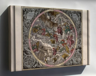 Canvas 24x36; Northern Constellations 1708 Zodiac Astrology P5