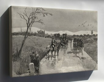 Canvas 24x36; Funeral Procession Of King Alfonso Xii Of Spain To Madrid 1885