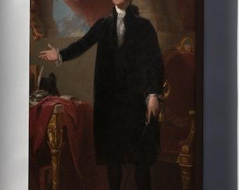 Canvas 24x36; Gilbert Stuart George Washington Lansdowne Portrait