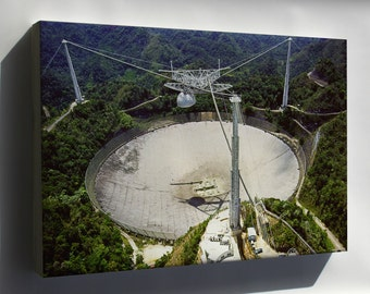 Canvas 16x24; Arecibo Radio Telescope Observatory