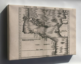 Canvas 16x24; Map Of West Indies; Cuba Florida 1513