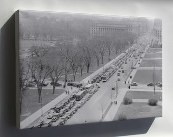 Canvas 16x24; Aerial View Of A Traffic Jam, 14Th Street And The Mall, Washington, D.C, 04 1937 Nara 513342