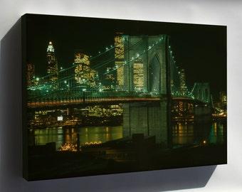 Canvas 16x24; Brooklyn Bridge C1982