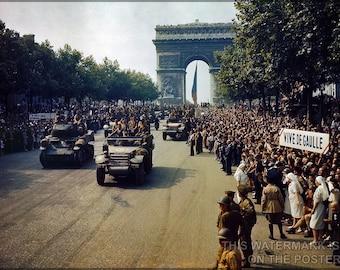 16x24 Poster; Liberation Of Paris 1944