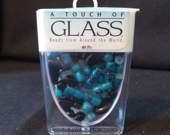 A Touch Of Glass Bead Assortment From Around The World Turquoise 8mm Beads