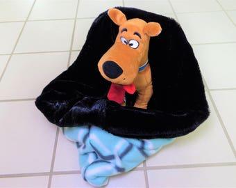 Fur Snuggle Sack Dog Pet Sleeping Bag Cat Cuddle Reversible Bed