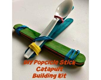 Kid's Popsicle Stick Catapult Building Activity Science Stem Kit